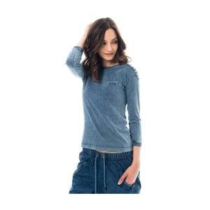 Bavlnené tričko farbené indigom Lull Loungewear Genes New Style, veľ.S