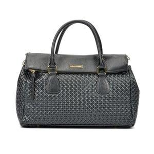 Čierna kožená kabelka Carla Ferreri Sposso Lento