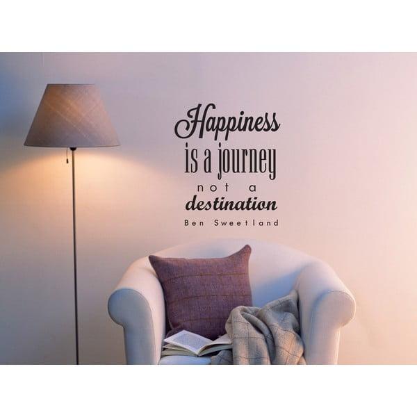 Dekoratívna nástenná samolepka Happiness