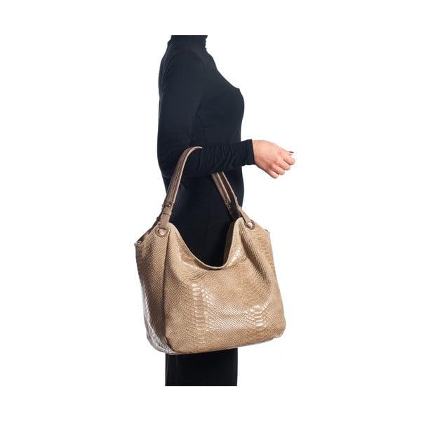 Kožená kabelka Amedea, sivohnedá