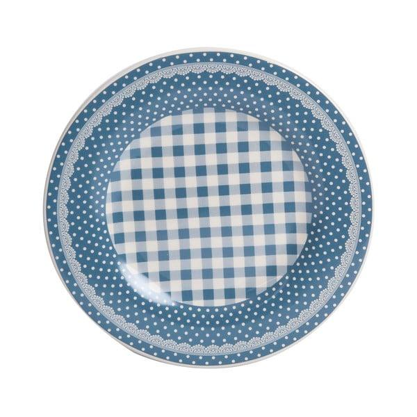 Dezertný tanier Blue Dots&Checks, 20.5 cm