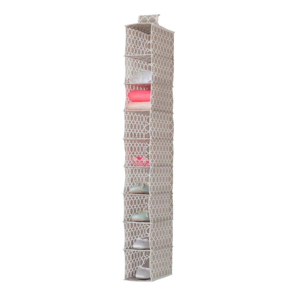 Béžový závesný organizér s 9 priehradkami Compactor, šírka 15 cm