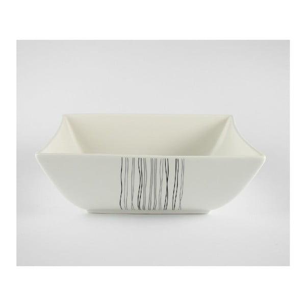 Šalátová porcelánová misa Duo Gift Silver Line, 24 cm