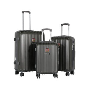 Sada 3 tmavosivých cestovných kufrov LULU CASTAGNETTE Edge