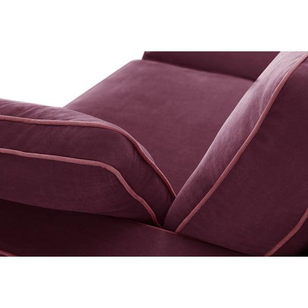 Trojdielna sedacia súpravaJalouse Maison Serena, vínová