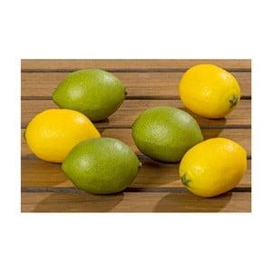 Sada 6 dekorácií Boltze Lemon