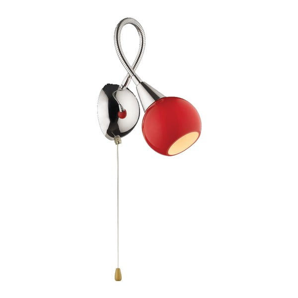 Nástenné svietidlo Evergreen Lights Red Retro