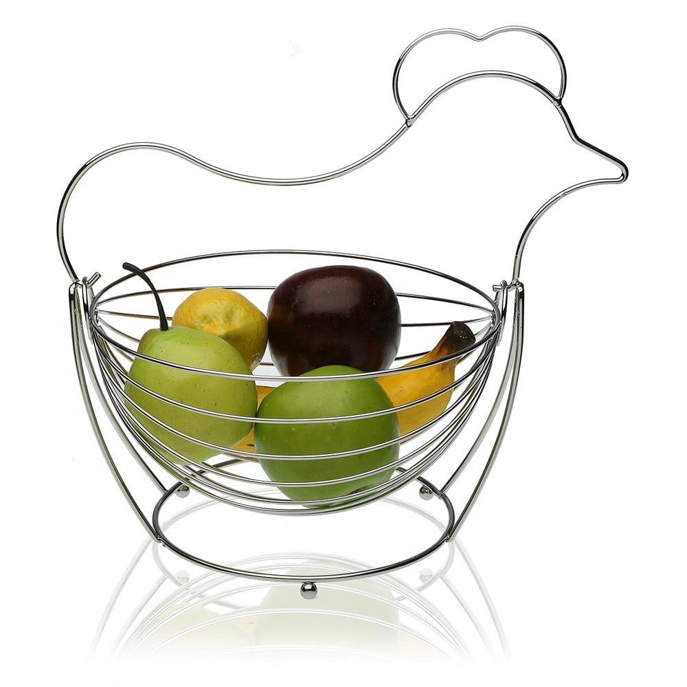 Oceľový košík na ovocie Versa Chrome