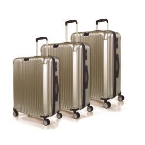 Sada 3 kufrov Jaslen, zlatá