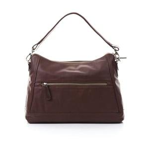 Hnedá kožená kabelka Gianni Conti Justina