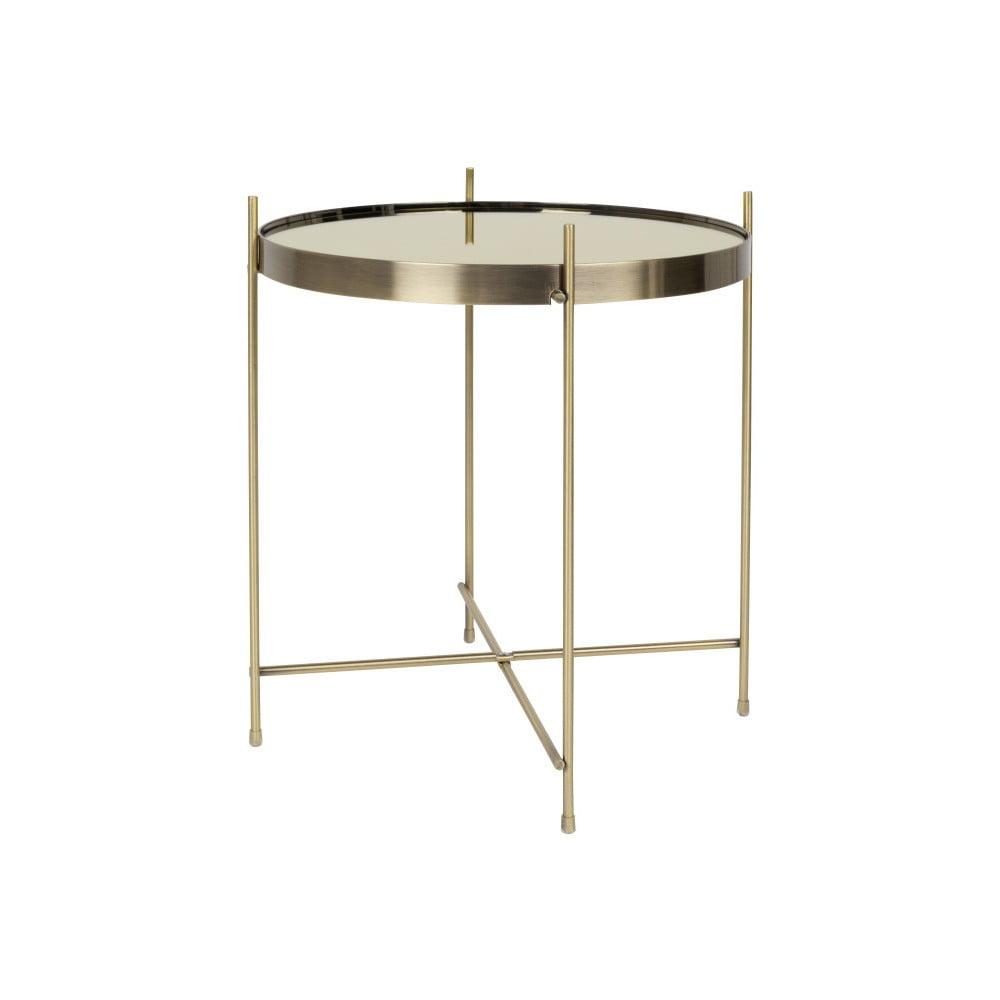 Príručný stolík v zlatej farbe Zuiver Cupid, ⌀ 43 cm
