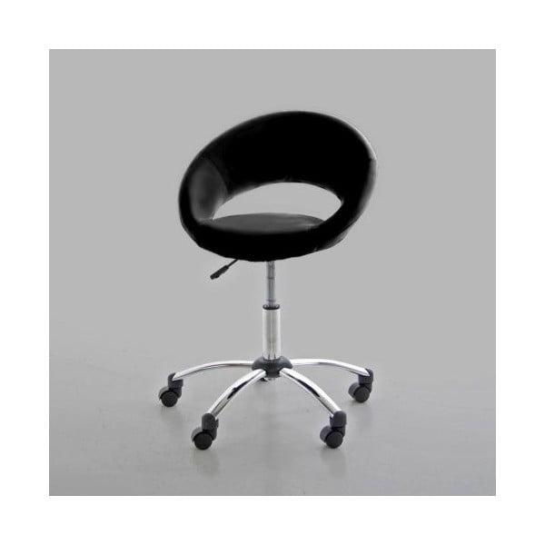 Čierna kancelárska stolička Actona Plump