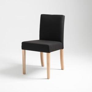 Čierna stolička s prírodnými nohami Custom Form Wilton
