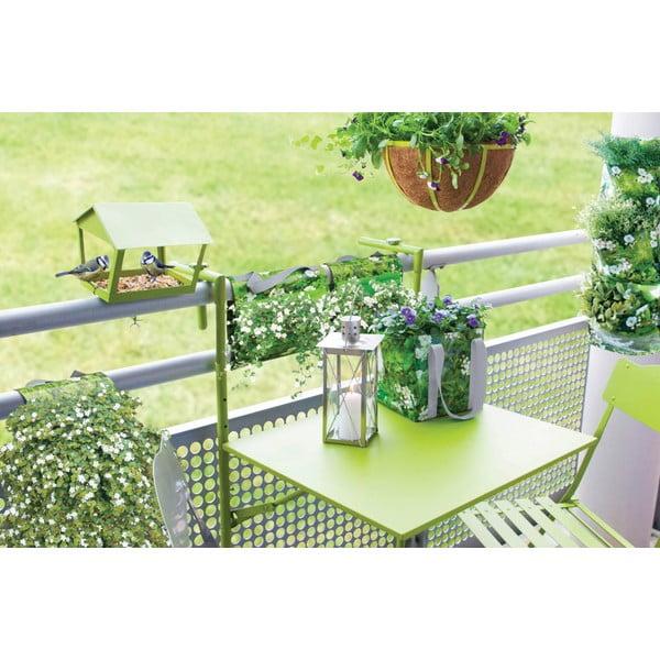 Skladací jedálenský stolík na balkón Nature, sivý