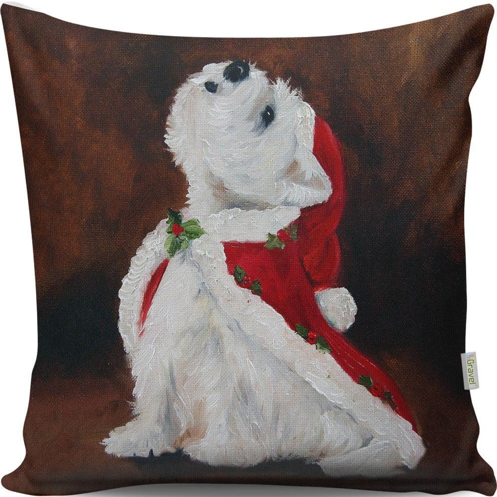 Vankúš Christmas Dog, 43 × 43 cm