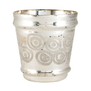 Svietnik Circle Silver, 15x15x16 cm