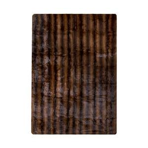 Hnedý koberec z králičej kože Pipsa Blanket, 180×120 cm
