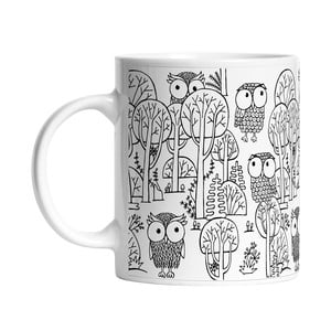 Keramický hrnček A lot of Owls, 330 ml
