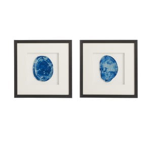 Sada 2 obrazov s achátom Agate, 40x40 cm