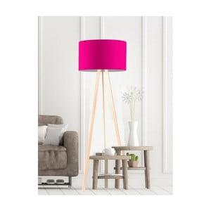 Tmavoružová stojacia lampa Simple