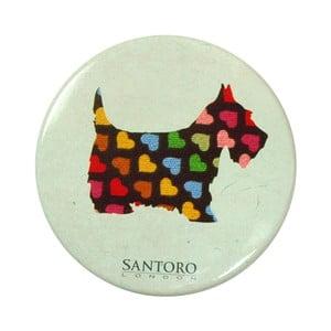 Vreckové zrkadielko s puzdrom Santoro London Scottie Dogs