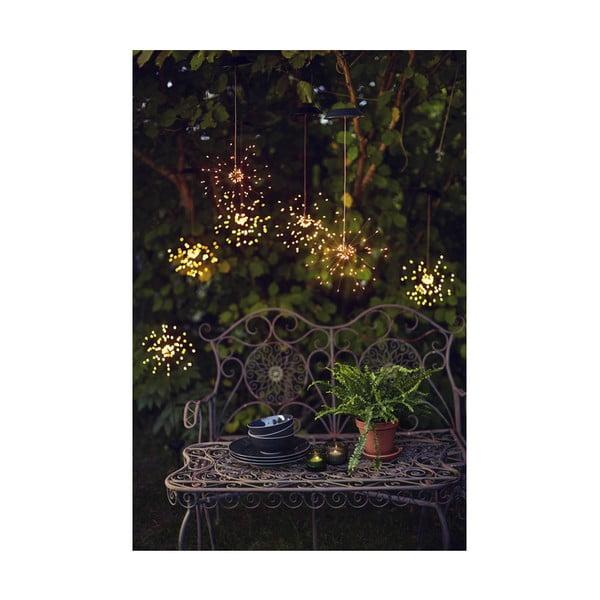 Vonkajšie solárne závesné LED svietidlo s bielymi diódami Best Season Firework