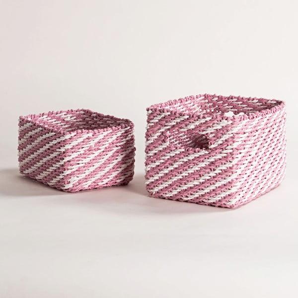Sada 2 ružových úložných košíkov Compactor Basket Claudie
