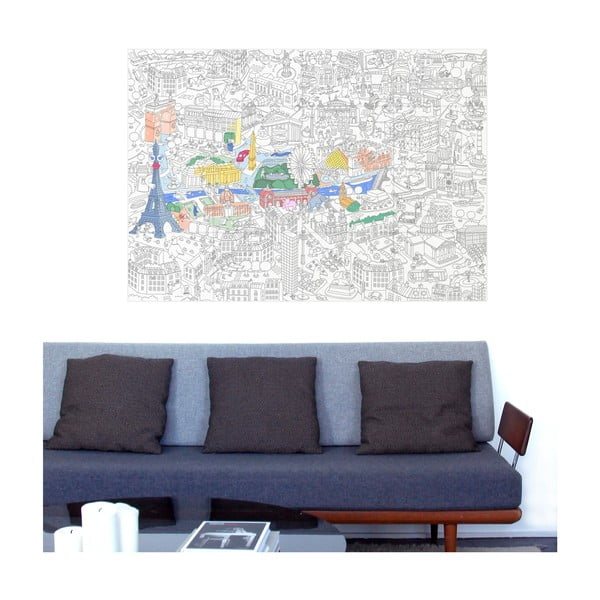 Maľovanka OMY Paris (70 x 100 cm)