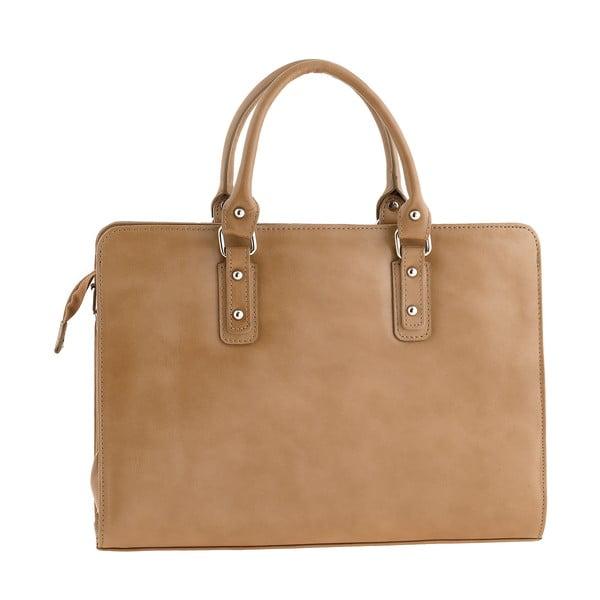 Hnedá kožená kabelka Ore Diece Taranto