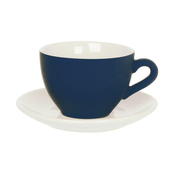 Modrá šálka s tanierikom Present Time Silk