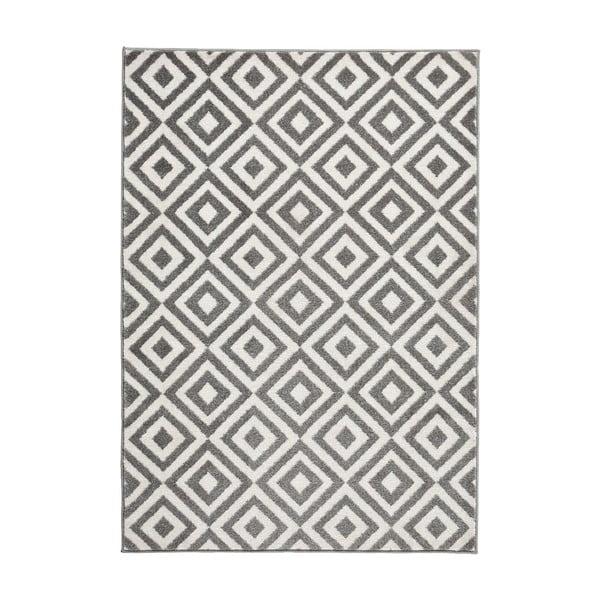 Sivo-biely koberec Think Rugs Matrix, 120×170cm