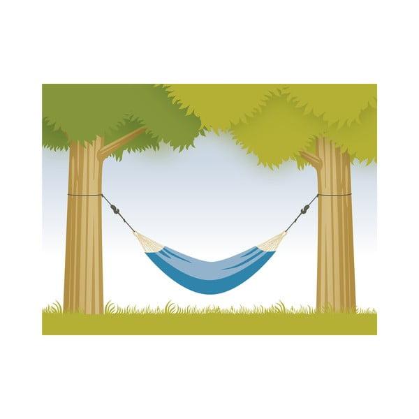Systém na uchytenie hojdacej siete medzi stromy