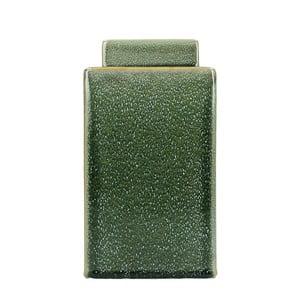 Zelená kameninová dóza HF Living, výška 21,5 cm