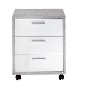 Sivo-biela komoda na kolieskach 13Casa Innis