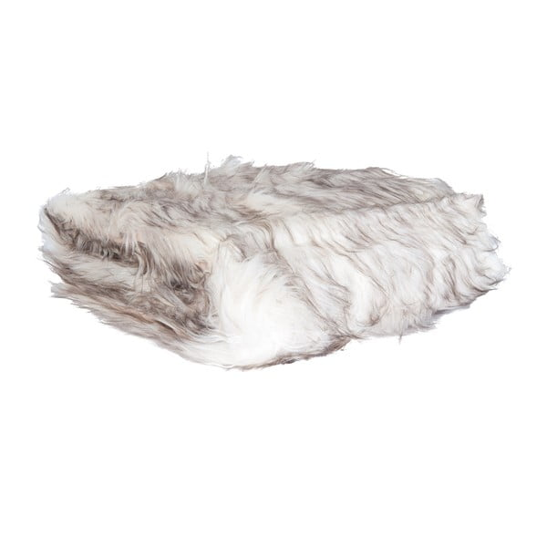 Biela  prikrývka Clayre & Eef Fur, 130x180cm