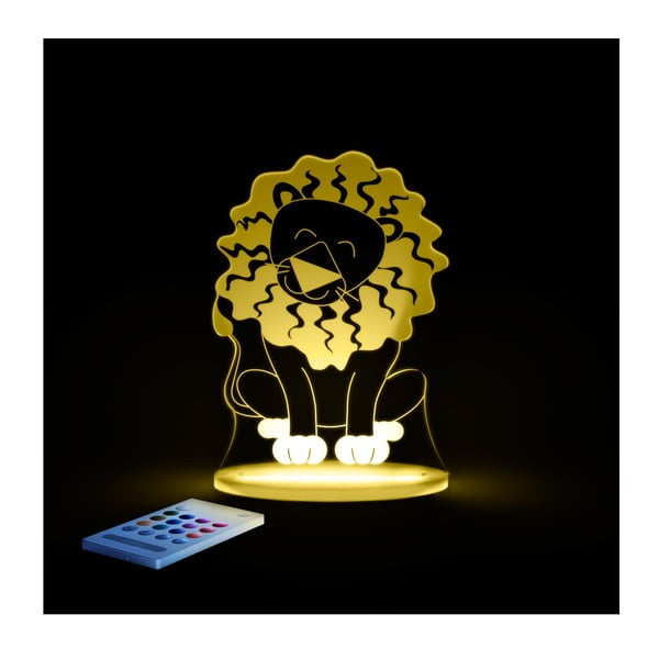 Detské LED nočné svetielko Aloka Lion