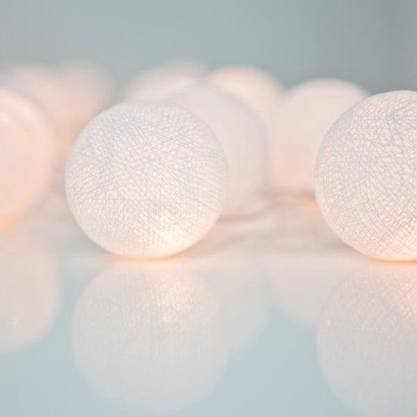 Svetelná reťaz Irislights Pure White,10svetielok