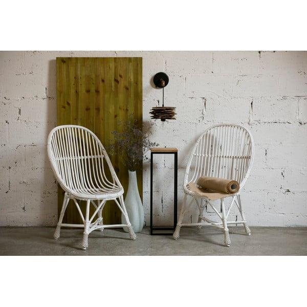 ODkladací stolík Side Black, 22x22x72 cm