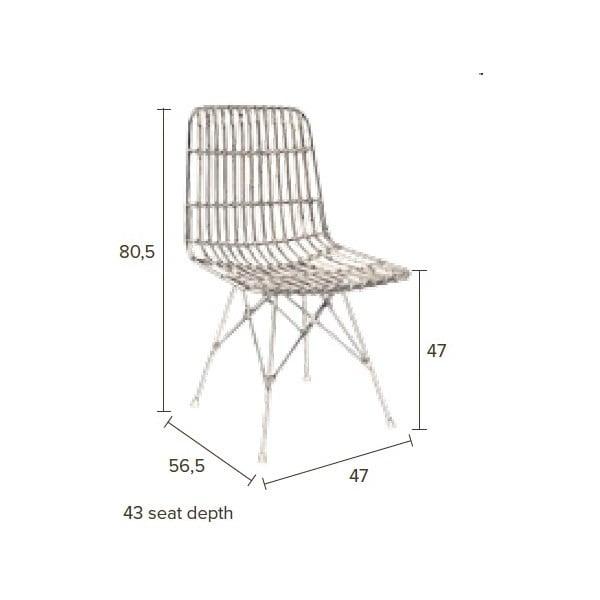 Prútená stolička Dutchbone Kubu