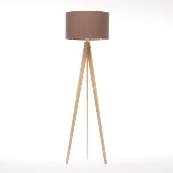 Hnedá voľne stojacia lampa 4room Artist, prírodná breza, 150 cm