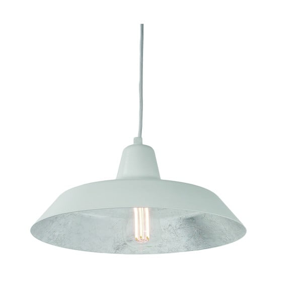 Biele stropné svietidlo s detailom v striebornej farbe Bulb Attack Cinco