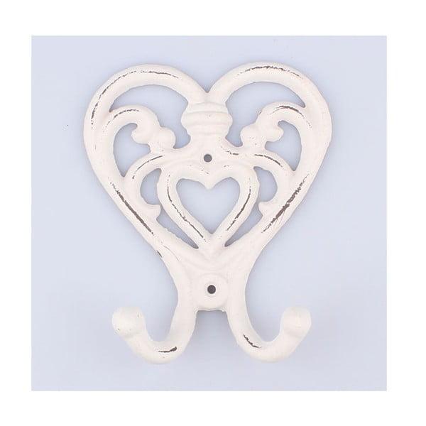 Liatinový vešiak White Heart