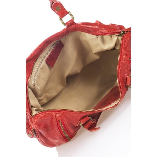 Kožená kabelka Kiara, červená