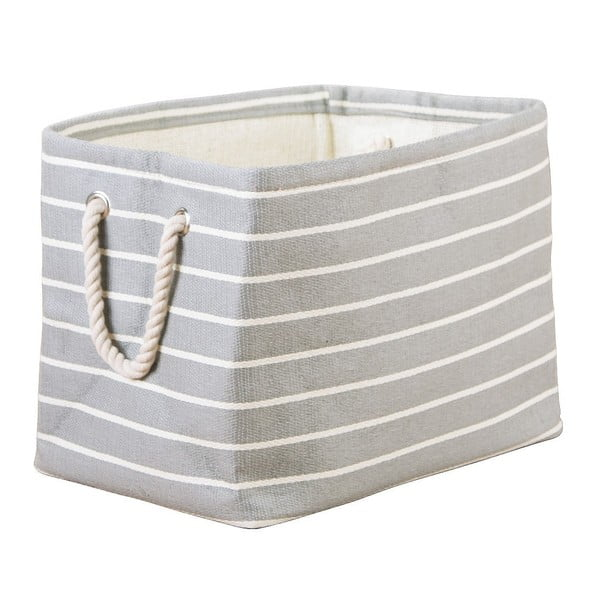 Sivý úložný box InterDesign Luca, 38x25,5cm