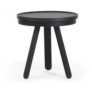 Čierny odkladací stolík z jaseňového dreva s podnosom Woodendot Batea S