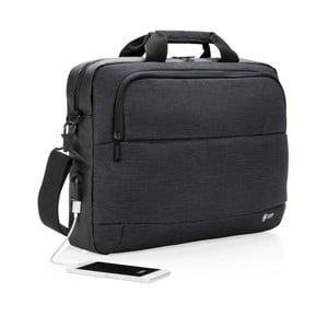Taška na notebook s USB portom Swiss Peak