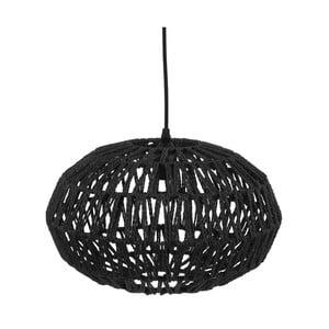Čierne závesné svietidlo Leitmotiv Paper Rope, ⌀ 39 cm