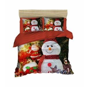 Vianočné obliečky na dvojlôžko s plachtou Zoe, 160×220 cm