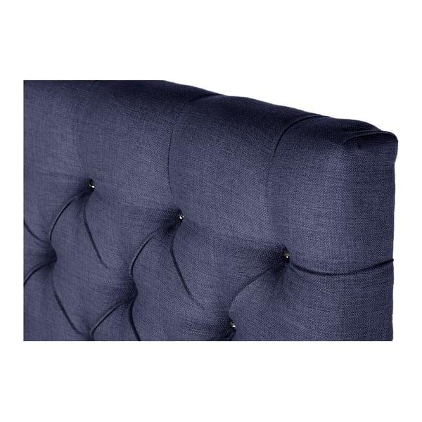 Tmavomodrá posteľ s matracom Stella Cadente Venus Forme, 140x200cm