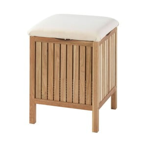 Kúpeľňová stolička s úložným priestorom z orechového dreva Wenko Norway